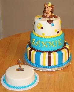 Mod Monkey 1St Birthday - CakeCentral.com