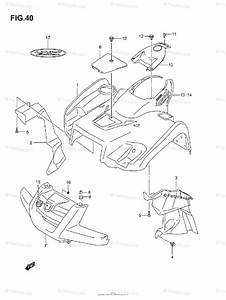 Suzuki Atv 2007 Oem Parts Diagram For Front Fender  Model