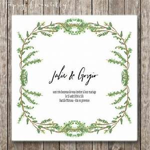 hand painted leaf and foliage crown wedding invitation With watercolor wedding invitations sydney