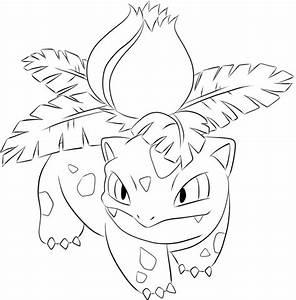 002 Ivysaur Lineart by lilly-gerbil on DeviantArt