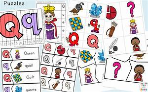 letter q preschool printable pack fun with mama With 3 letter word building puzzles