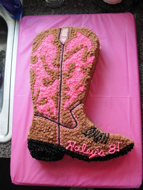 cowgirl boot cake cakes ive  pinterest