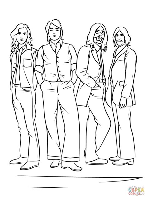 desenho de os beatles  colorir desenhos  colorir