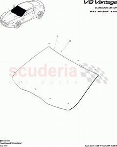 Aston Martin V8 Vantage Non Heated Windshield Parts