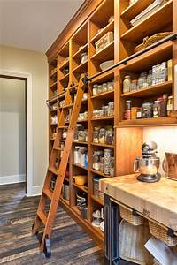 Rolling Library Ladder Kitchen Traditional With Black
