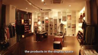 led lighting design project for clothing shop with led