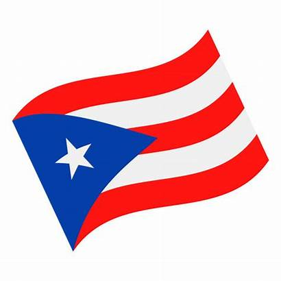Puerto Rico Flag Vector Waving Icon Clip
