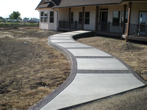 Beton Giessen Ideen by Concrete Sidewalk We Design Pour And Finish Buchheit