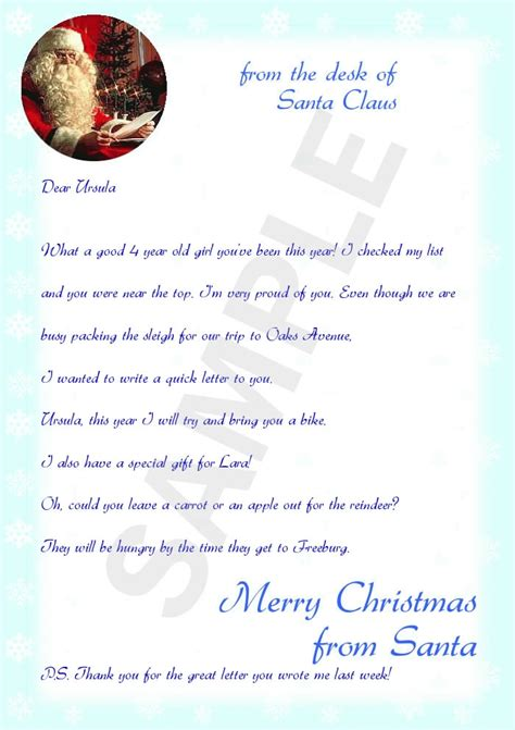 letters from santa 2017 make a letter from santa letter of recommendation 71490
