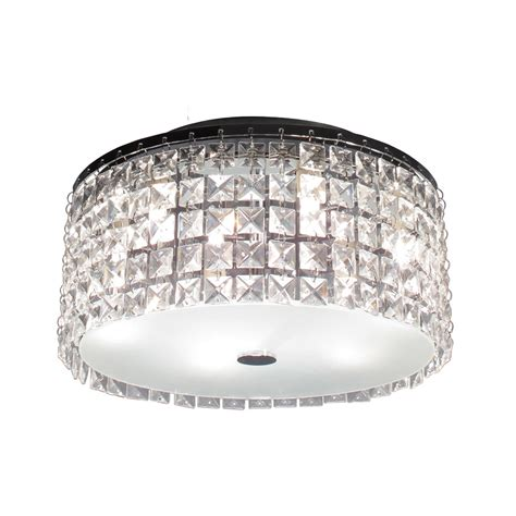 shop bazz lighting pl3413cc glam cobalt flush mount