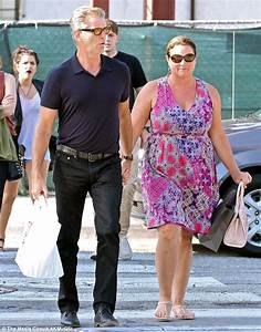 Pierce Brosnan and wife of 14 years Keely Smith go hand-in