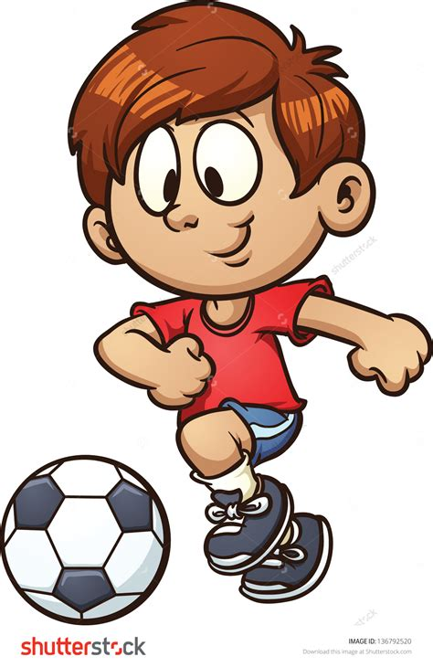 Soccer Player Clipart Boy Clipart Soccer Player Pencil And In Color Boy