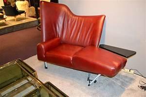Fauteuil Cuir Rouge : fauteuil asymetrique en cuir rouge design italien de ~ Teatrodelosmanantiales.com Idées de Décoration