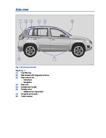 volkswagen tiguan owners manual   pages