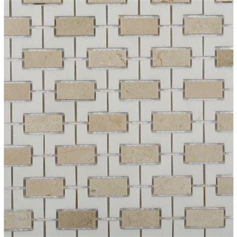 splashback tile rorschack crema marfil and thassos 12 in