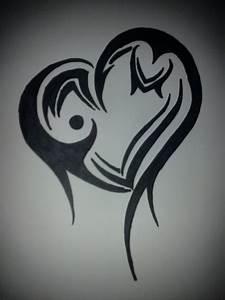 Tribal Heart by Roseblood150 on DeviantArt