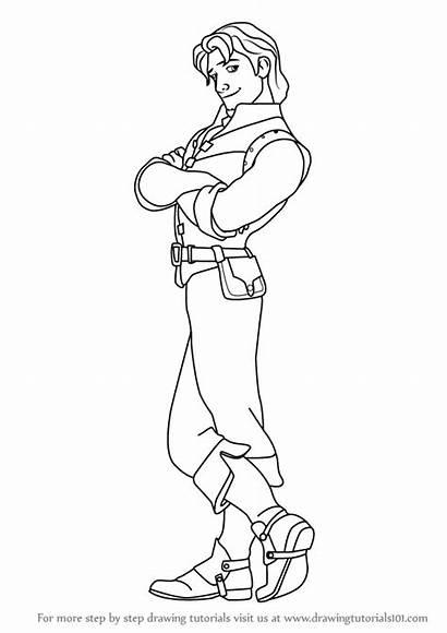 Flynn Rider Tangled Draw Step Drawing Drawings