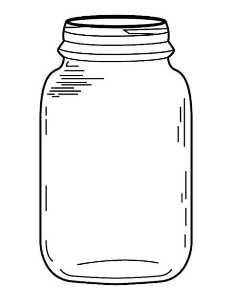 jar template marble jar colouring pages sketch coloring page