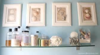 bathroom artwork ideas diy framed shell