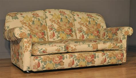 Floral Settee by Attractive Vintage Floral Upholstered Three 3 Seat Sofa