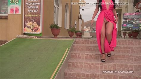Wife Public Nudity Xxx My New Red Dress For Flashing In