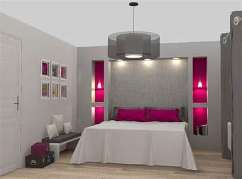 chambre femme moderne chambre grise et fushia idées déco pour une chambre moderne