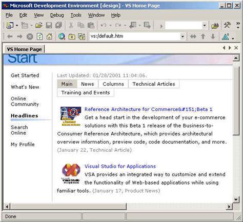 visual studio net start