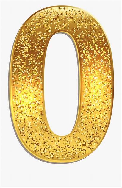 Gold Clipart Number Yopriceville Transparent Cartoon Netclipart