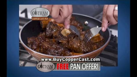gotham steel copper cast pan tv commercial hearty taste featuring daniel green ispottv