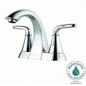 pfister pasadena 4 in centerset 2 handle high arc With pfister pasadena bathroom faucet