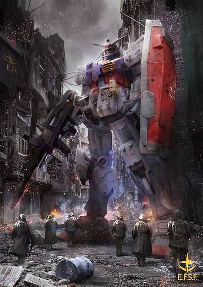 78 Gundam Rx War Fanart Awesome Wallpapers