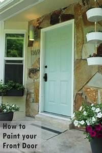 paint front door How to Paint an Exterior Door as in, Shut the Front Door!