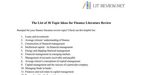 dissertation topics in financial management