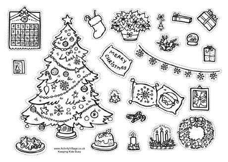 printable christmas cutouts and decorations decorate the room for decorations printable