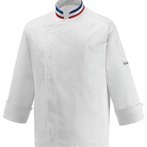 Veste De Cuisine Mof  Col Bleu Blanc Rouge, Broderie