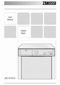 Zanussi Zdc37100w Clothes Dryer Download Manual For Free