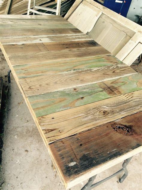 reclaimed wood tabletop  fits   folding plastic