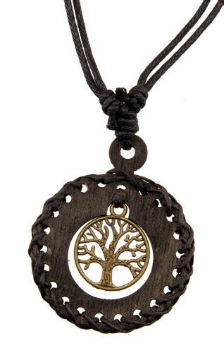 collier arbre de vie celte bois noir bijou ethnique