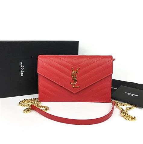 yves saint laurent red woc crossbody bag joyces closet
