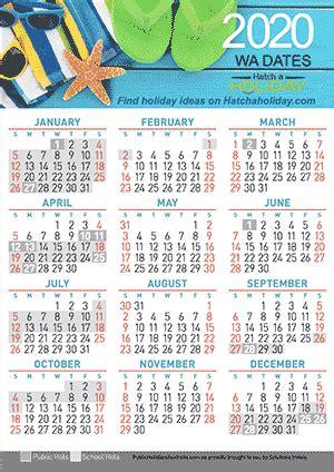 calendar western australia