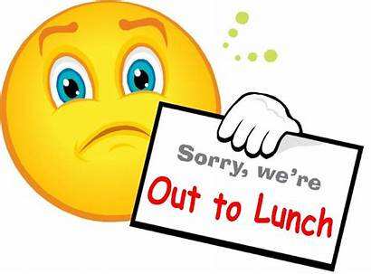 Lunch Sign Clipart Sorry Re Clip Face