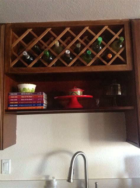shelf above kitchen sink above the sink shelf and wine rack for the home