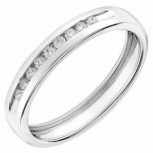 9ct white gold 010ct diamond wedding ring ernest jones With images of white gold wedding rings