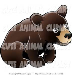 Cute Black Bear Cub Clip Art