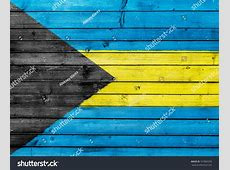 Bahamas Flag Painted On Wooden Fence Stock Photo 107860370