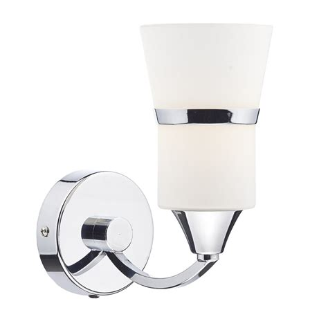 dar lighting dublin single led wall light in polished