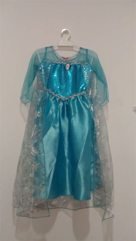 jual beli dress elsa frozen wing disney baju pesta gaun