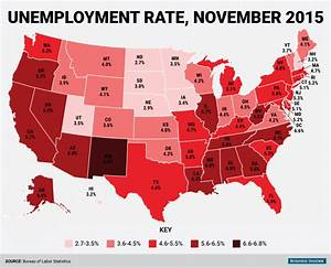 November State Unemployment Rate Map