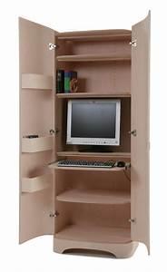 armoire informatique et bureau pour ordinateur modernes With meuble ordinateur ferm