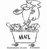 Postal Worker Mail Template Clipart Illustration Templates sketch template